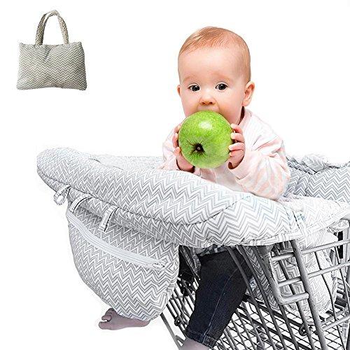 ZQYX Einkaufswagenschutz Mit Gurt, Universelle Passform Einkaufswagen-Hygieneschutz Einkaufswagen Und Hochstuhl Bietet Für Babys Oder Kleinkinder