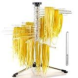 Stendino pieghevole per pasta , Essicca Spaghetti per pasta con 16 bracci pieghevoli ,altezza 28 cm, facile da riporre una facile pulizia
