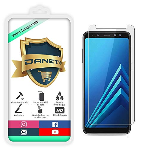 Película De Vidro Temperado Para Samsung Galaxy A8 Plus 2018 com Tela de 6 Polegadas Proteção Blindada Anti Impacto Top Premium - Danet