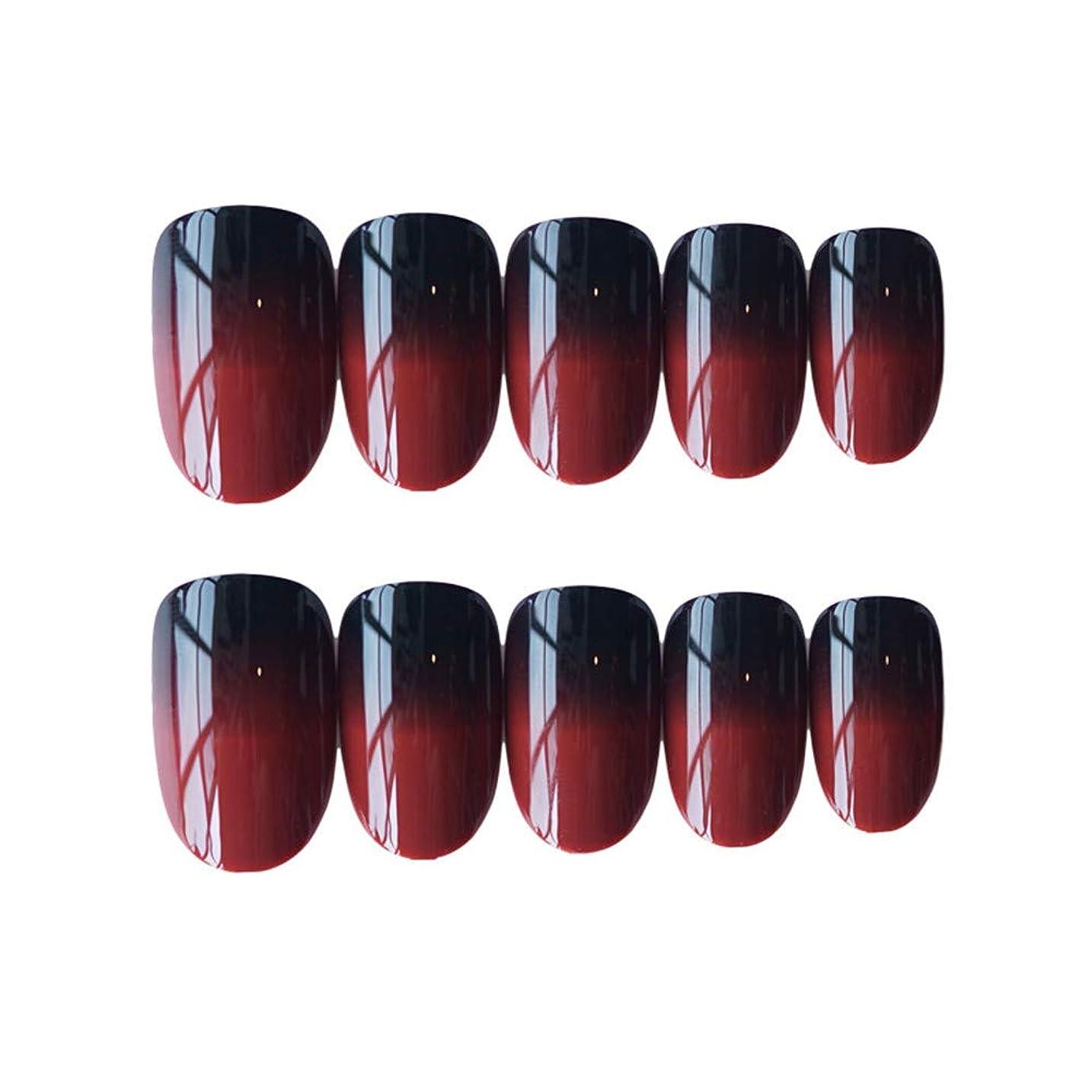 スーパーなめらかユーモラスLVESHOP ブラックレッドグラデーションネイルラップデカールアート転送アップグレードステッカーコレクションマニキュアDIYパッチストリップ ファッショナブルステッカー