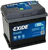 EXIDE Excell EB500 Batterie de Voiture 50Ah 450A