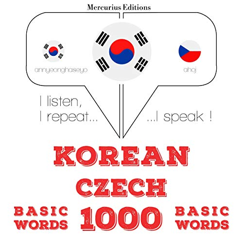 Korean – Czech. 1000 basic words cover art