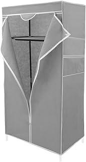comprar comparacion PrimeMatik - Armario ropero guardarropa de Tela Desmontable 70 x 45 x 155 cm Gris