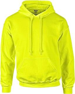 Gildan Heavyweight DryBlend Adult Unisex Hooded Sweatshirt Top/Hoodie (13 Colours) (XXL) (New Safety Green)