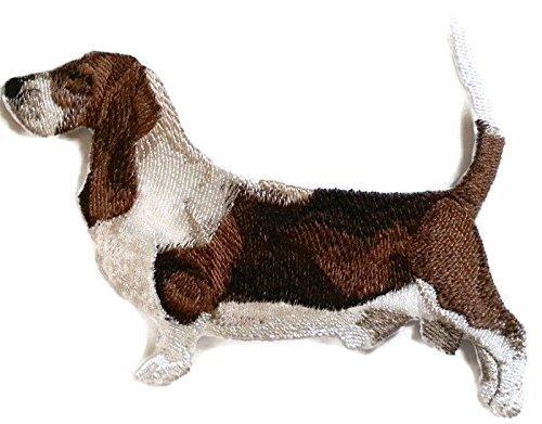 Amazing Custom Dog Portraits [Basset Hound ] Embroidery Iron On/Sew Patch [5.5