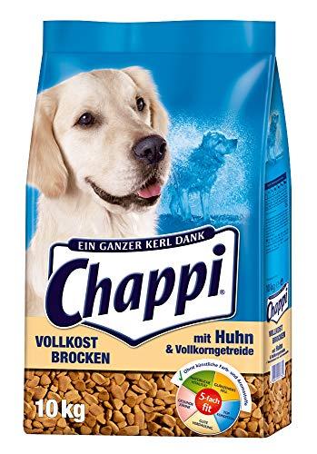 Chappi Hundefutter Trockenfutter Vollkost Brocken mit Huhn und Vollkorngetreide, 1 Beutel (1 x 10kg)