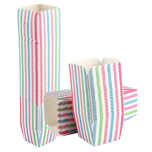 Changor Copa de Pastel de Colores, Tazas de Hornear de la Magdalena 200pcs 4.8x5cm 220 ℃ Cartón Blanco Hecho para la decoración de la Fiesta en casa