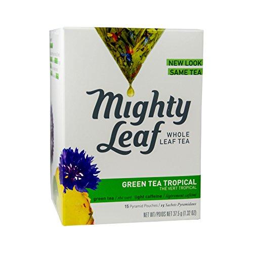 Mighty Leaf, Green tea Tropical, Tea Bags, 15 ct