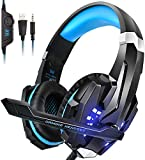 INSMART Cuffie Gaming per PS4, Cuffie PS4 Over Ear con Microfono e Suono Surround e Microfono HD Jack Audio 3.5 mm,RGB LED, Gaming Headset per PS4/Xbox One/PC/Laptop/Tablet/Nintendo Switch