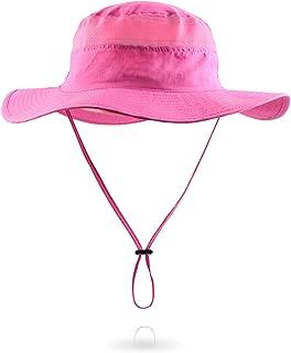 Womens Rose Pink Sun Hat Outdoor Quick-Dry Lightweight Cap