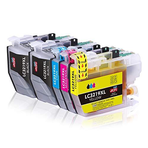 JIMIGO LC3219 XL Cartouche d'encre compatible pour Brother LC3217 LC3219 LC3219XL avec Brother MFC-J5330DW J5335DW J5730DW J5930DW J6530DW J6930DW J6935DW (Multipack,2 Noir,1 Cyan,1 Magenta,1 Jaune)