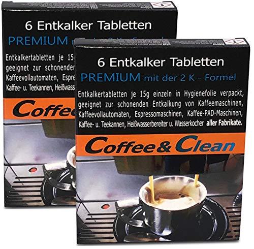 JaPeBi 12 Entkalker-Tabletten á 15g schnell-auflösend für alle Kaffeevollautomaten Espressomaschinen Kaffeemaschinen Padmaschinen Teekocher Wasserkocher Heißwassergeräte