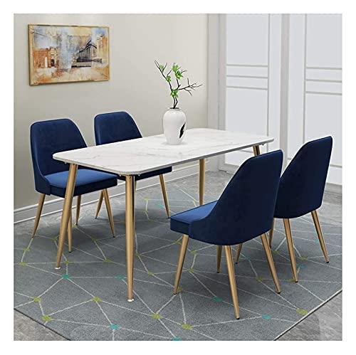 Conjunto de mesa de comedor para cocina o decoraci Máquina de mármol Mesa de comedor y combinación de sillas Moderno Simple Apartamento pequeño Mesa de comedor rectangular Nordic Coffee Table Thing