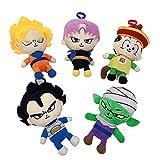 mingmi 5 Unids / Set Dragon Ball Vegeta IV Son Goku Piccolo Muñeca De Dibujos Animados Bolso De Homb...