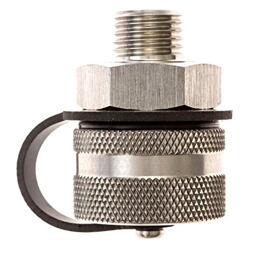 ValvoMax Stainless Oil Drain Valve - No Tools, No Mess, Fast Drain - for M12-1.75 - Stainless Drain Hose Attachment