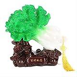 WGLG Estatuas Adornos para el Hogar Baicai Ruyi Jade Col Decoración del Hogar Decoración de Apertura Artesanal Regalo