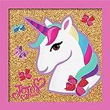 RoomMates CRK4256A Jojo Siwa - Cuadro decorativo de corcho para pared, diseño de unicornio, color rosa, rojo, blanco, azul, morado
