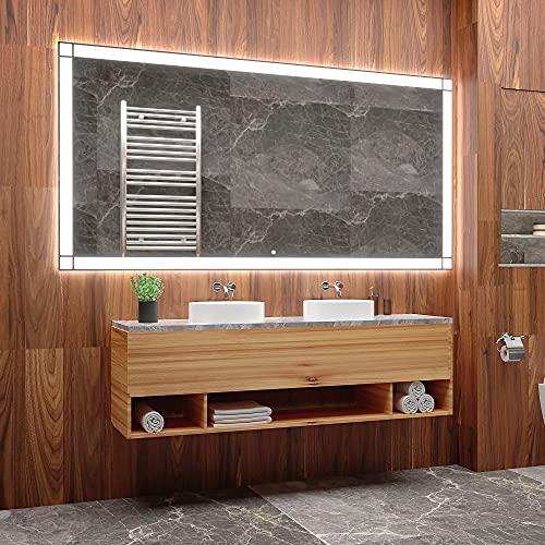 ARTTOR Specchio LED - Arredamento Casa - Specchio Grande O Piccolo - Varie Dimensioni - Decorazione Dell appartamento E Attrezzatura del Bagno - M1ZD-60-70x50