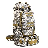 100L Hiking Backpack Outdoor Camping Climbing Tactical Backpack Rucksack Removeable Shoulder Straps...