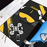 DMWSD Mouse Pad Desktop Pad Rainbow Six Siege Anime Game Character Jäger Active Defense System Q Version Character Portrait Oversized Non-Slip Professional Gaming Mouse Notebook Desktop Notebook