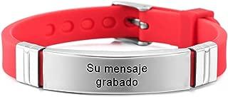 MeMeDIY Nombres De Grabado Personalizados Pulsera De