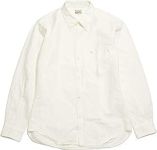 BURGUS PLUS(バーガスプラス) Oxford BD Shirt White HBP-303A 日本製 白シャツ ボタンダウンシャツ
