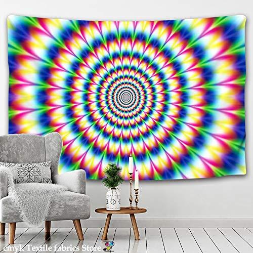 KHKJ Tapiz de Mandala Indio psicodélico para Colgar en la Pared, Tapiz Decorativo de Tela para Pared, Tapiz Hippie, Manta de Pared para Hombre A8 95x73cm