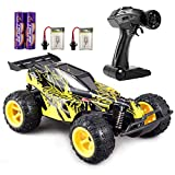 GamePath Remote Control Car - 2.4Ghz Fast Toy Car for Kids 1:22 High Speed Racing RC Cars with 2 Rechargeable Batteries, High Speed RC Racing Cars 20 KM/Hr,Black and Yellow
