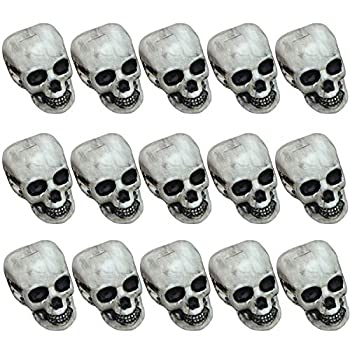 Cotiny 15 Pieces Halloween Skulls Realistic Skeleton Head Skull Human Skeleton Head Skull for Halloween Party Home Bar Decoratoin