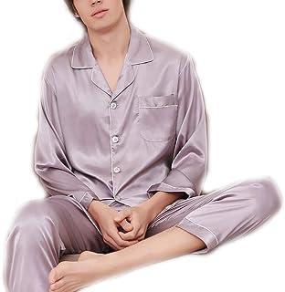 eea04a364 Scennek Pajamas - Pijama de Seda de Hielo para Hombre (Manga Larga