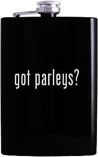 got parleys? - 8oz Hip Alcohol Drinking Flask, Black