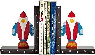 الدفاتر الزخرفية الخشب صاروخ غلاف الكون موضوع الأطفال كتاب نهاية كتاب ينتهي لرفوف منضدية ديكور