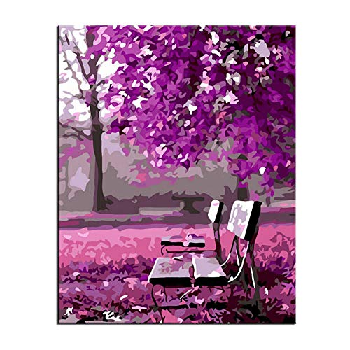 chair Digital Painting For Beginners Flower Piano Dolphin C Air Bedroom Fine Oil Painting Acrylic Paint Linen Canvas 40X50Cm