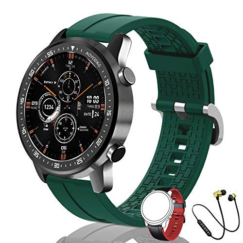 Smartwatch Fitness Watch Uomo Sport Polso da Donna, Telefono Bluetooth, Lettore Musicale, 14 Modalità Sport, Smartwatch Impermeabile IP67 con Cardiofrequenzimetro Android IOS(Verde)