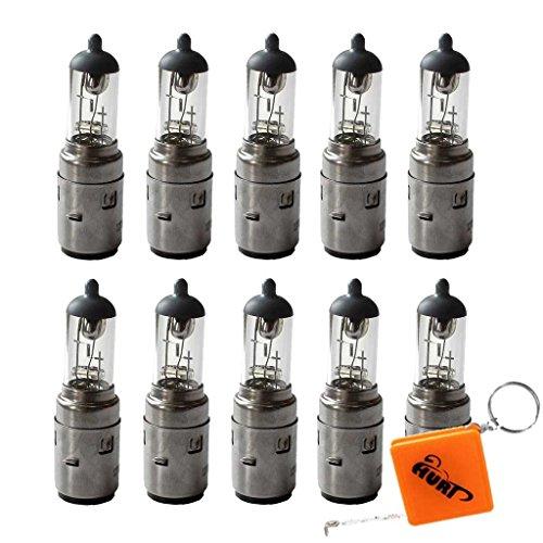 HURI 10x S2 Ampoule Lampe 12V 35/35W BA20D Ampoule culot Bilux Ampoule halogène pour Scooter ATV Moto et Voiture