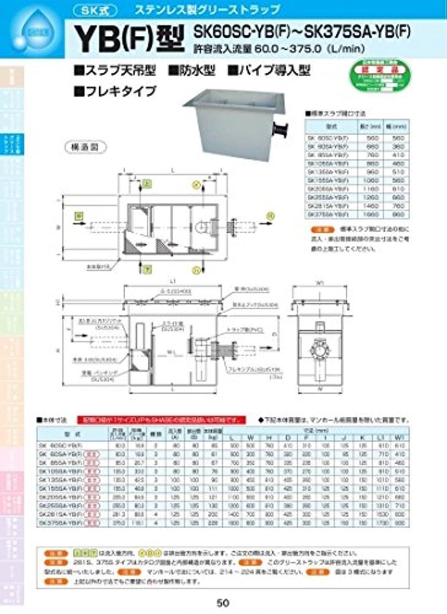 ゼロ不承認並外れてYB(F)型 SK85SA-YB(F) 耐荷重蓋仕様セット(マンホール枠:ステンレス/蓋:溶融亜鉛メッキ) T-20