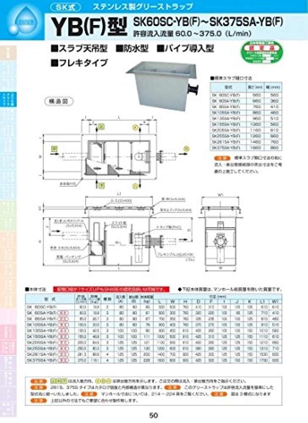 パッド市区町村理想的にはYB(F)型 SK85SA-YB(F) 耐荷重蓋仕様セット(マンホール枠:ステンレス/蓋:溶融亜鉛メッキ) T-20