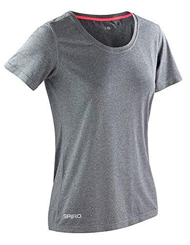 Spiro Pantalon de Fitness Brillant chiné T-Shirt pour Homme Large Sport Grey/Hot Coral