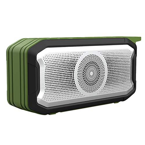 DKee. Grün Außen tragbaren drahtlosen Bluetooth-Stereo-Lautsprecher 360 ° 5.0-Surround-Sound-Lautsprecher Subwoofer IPX7