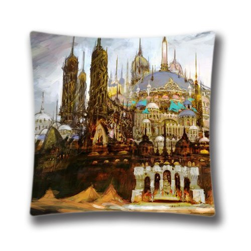 FlowerArtC1738-High Qulity Final Fantasy Xiv Online Artwork Pillow Cover Decorative Pillowcase 18 x 18-2015 Black Friday Deals