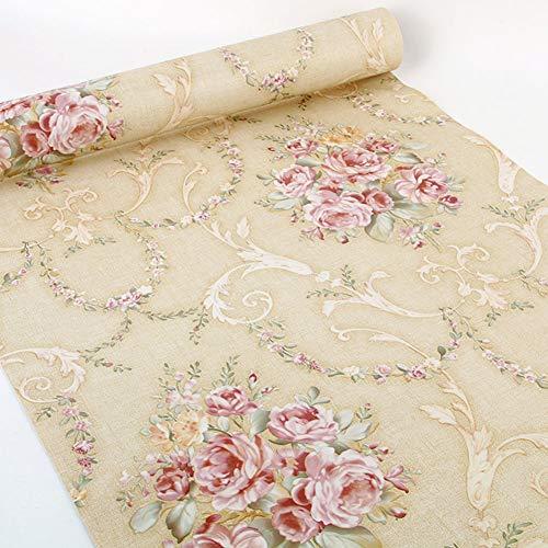 17.7 x 117 pulgadas estilo europeo autoadhesivo decorativo floral estante cajón Liner papel pintado para muebles gabinetes cajón, mesa vanidad paredes arte artesanía calcomanía extraíble