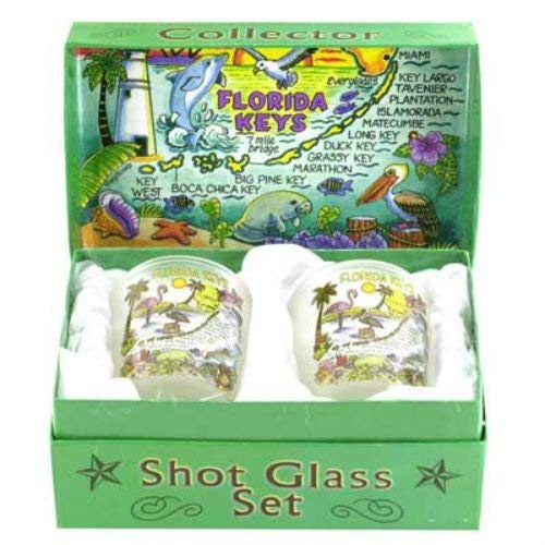 Florida Keys Boxed Shot Glass Set (Set of 2)