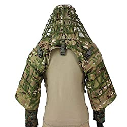 top rated ROCOTACTICAL Sniper Ghillie Suit Foundation, Ripstop, Ghillie Viper Hood, Sniper Camouflage Coat … 2021