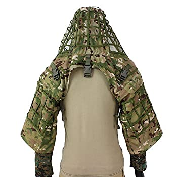 ROCOTACTICAL Sniper Ghillie Suit Foundation Ripstop Ghillie Viper Hood Camouflage Sniper Coat  CP Multicam
