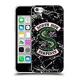 Head Hülle Designs Offiziell Offizielle Riverdale Schwarzweiß-Marmor-Logo South Side Serpents Soft Gel Handyhülle Hülle kompatibel mit Apple iPhone 5c