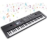 Clavier de Piano Numérique 61 Touches Musique Clavier Portable Keyboard...