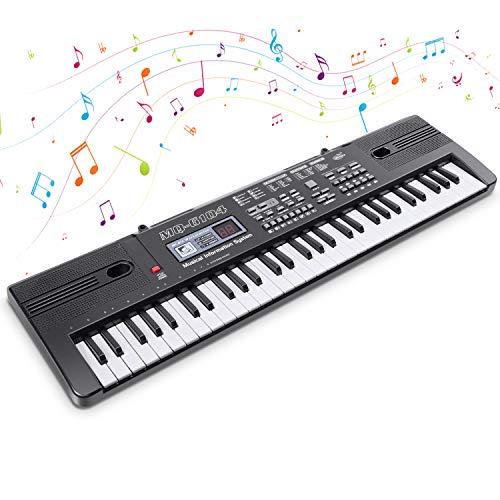 Electrónico Piano 61 Teclas Teclado de Piano Portátil Teclado Electrónico Musica Teclado...