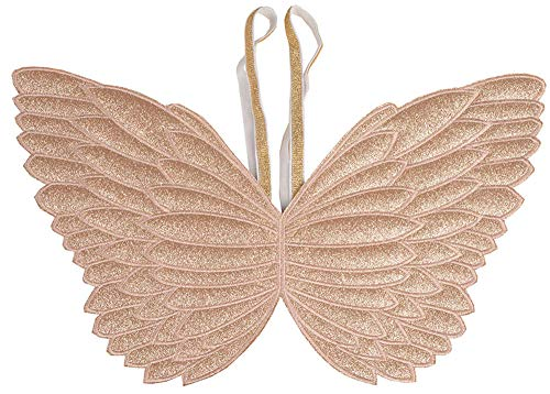 Ohnanana Butterfly Fairy Wings for Toddler Girls for Tinkerbell Unicorn Party Birthday Favors Halloween Costumes Dress Up 2-5 Years Old(Gold Glitter)