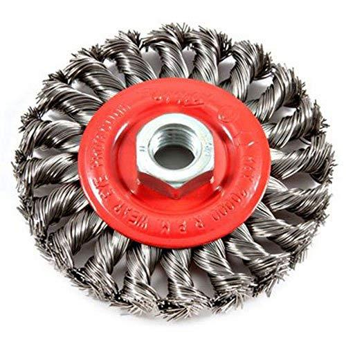 Forney 72759 4-Inch x .020 x 5/8-11 Knot Wire Wheel