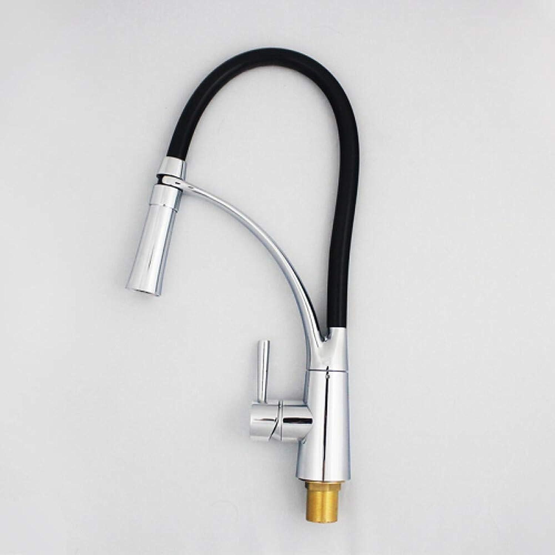 Küchenarmatur Einlochmontage Chrom Ausziehbar Shy; Pull-Down Deck montiert Moderne Küchenarmaturen Einhand Einlochmontage  Standard